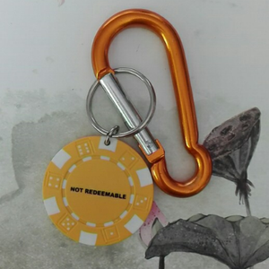 6cm bar keychain with wafer tag 1608018